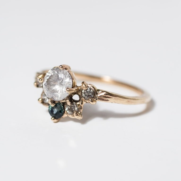 Ethical-and-Sustainable-Diamond-Sapphire-Cluster-Engagement-Ring