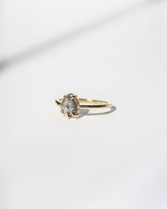 18k-Yellow-Gold-Salt-and-Pepper-Diamond-Ring-Claw-Prong-Setting