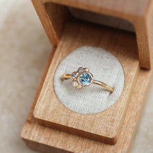 Load image into Gallery viewer, Custom Sapphire Engagement Ring | Recycled 14k Gold