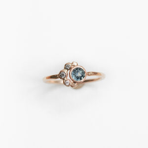 Custom Sapphire Engagement Ring | Recycled 14k Gold