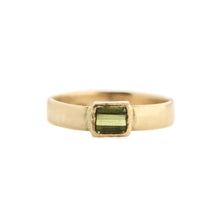 Load image into Gallery viewer, Emerald Cut Green Tourmaline Ring | 14k Recycled Gold