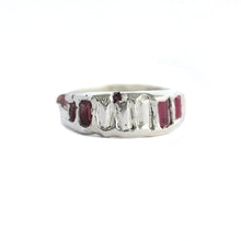 Load image into Gallery viewer, cast-red-spinel-sterling-silver-ring
