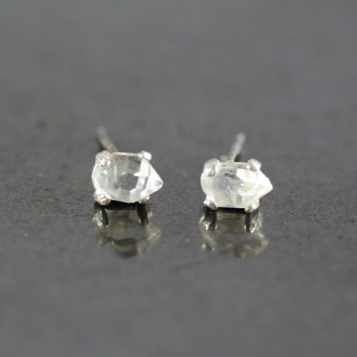 Herkimer Diamond Studs | Recycled Sterling Silver