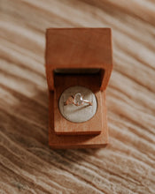 Load image into Gallery viewer, Engagement ring in sustainable wood jewelry box