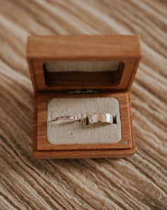 side by side wood wedding ring box