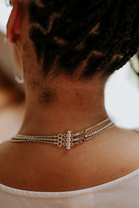 Trio Layering Clasp | Recycled Sterling Silver