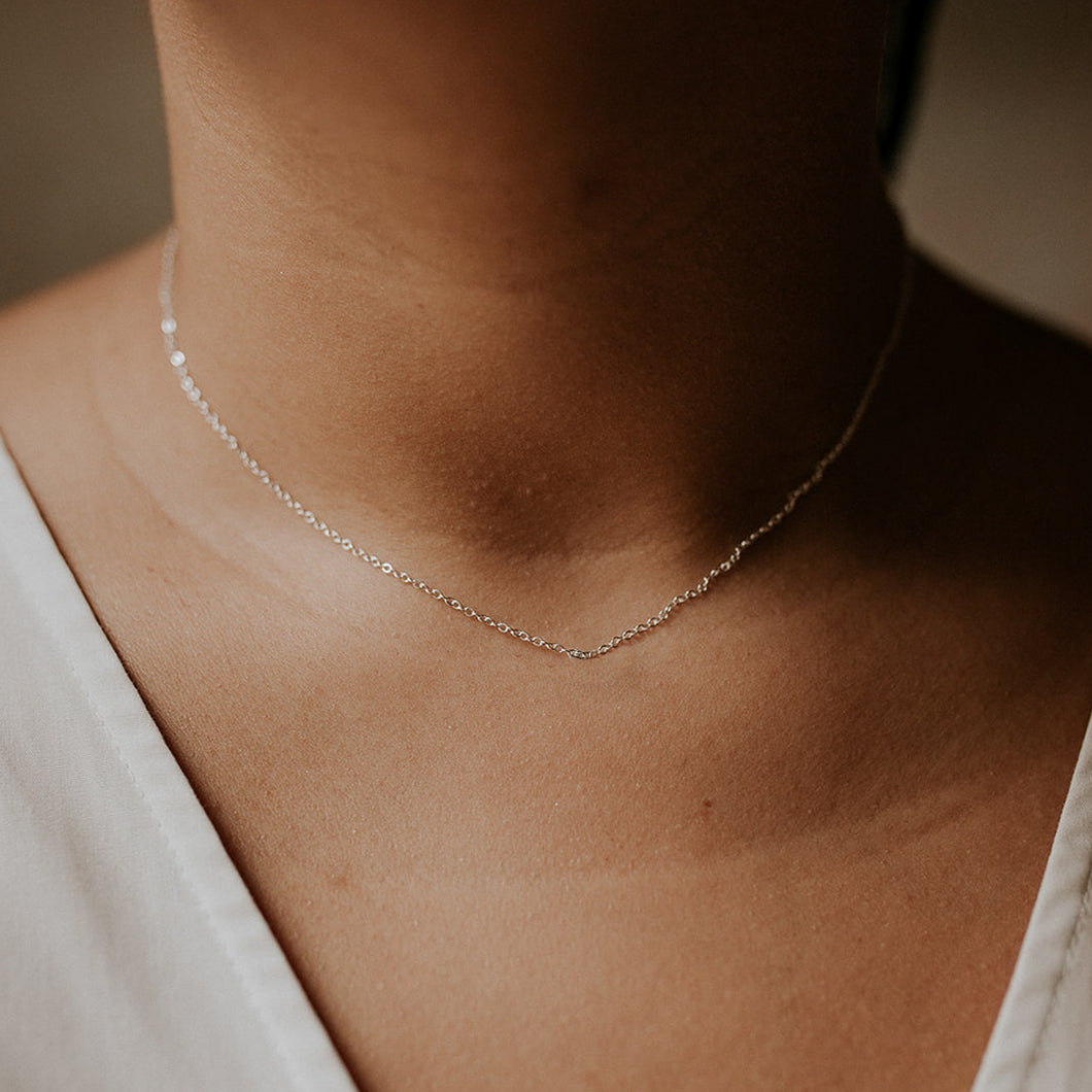Cable Chain Necklace | Recycled Gold or Silver