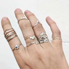 Load image into Gallery viewer, sustainable-sterling-silver-stacking-rings
