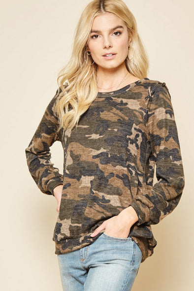 Andree long sleeve camo