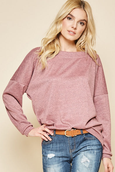 Make me blush long sleeve crew neck