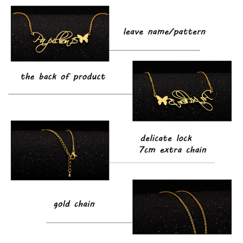 Fashion handmade Personalized Names infinity Choker & Pendant Necklace For Women