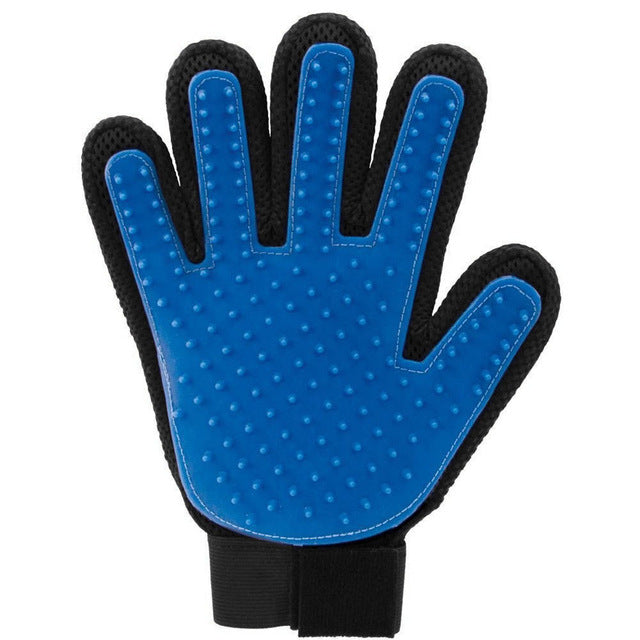 Hair removal and pet massage brush gloves
