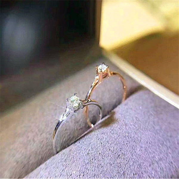 Crystal Zircon Stone Ring - Zorbba