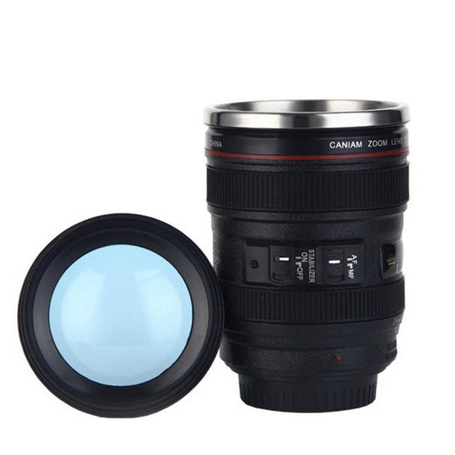 Creative Self Stirring Mug Camera Lens - Zorbba