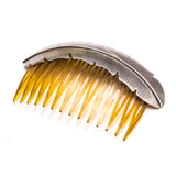 SS Feather Comb Hair Accessory