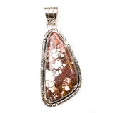 Cut SS Large Red Jasper Pendant
