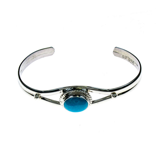 Sterling Silver Turquoise Baby Cuff Bracelet