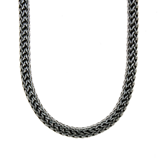 Sterling Silver Woven 22 Inch Necklace