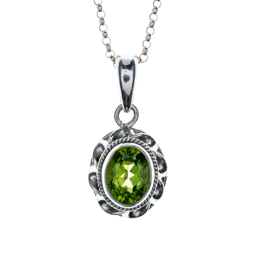 Sterling Silver Peridot Necklace