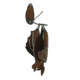 Wall Metal Bat Hanging  with Open Wings Sculpture