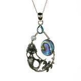 Sterling Silver Abalone Shell Mermaid Necklace