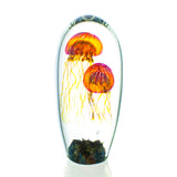 Glass Tropical Moon Jellyfish Sculpture