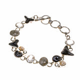 Sterling Silver Ammonite Sand Dollar and Shark Tooth Bracelet