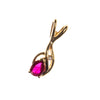 14K Ruby Pear Pendant