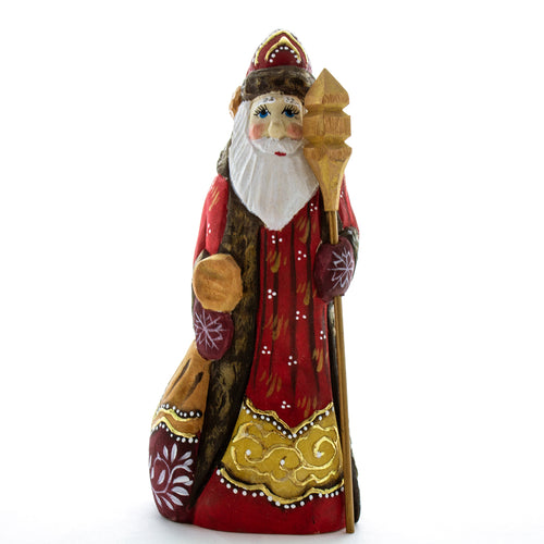 Carved Santa in Red