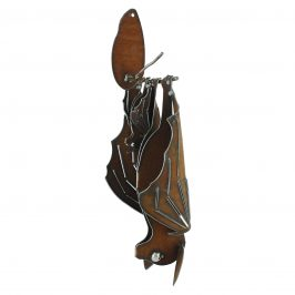 Wall Metal Bat Momma with Baby Sculpture
