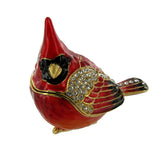 Cloisonne Box Carrie Cardinal with Matching Necklace
