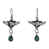 Sterling Silver Abalone Shell Stingray Earrings