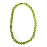 Caribbean Green Amber Beaded Necklace