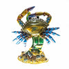 Electric Blue Crabs Scene Cloisonné Box with Matching Necklace