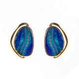 14K Boulder Opal Stud Earrings