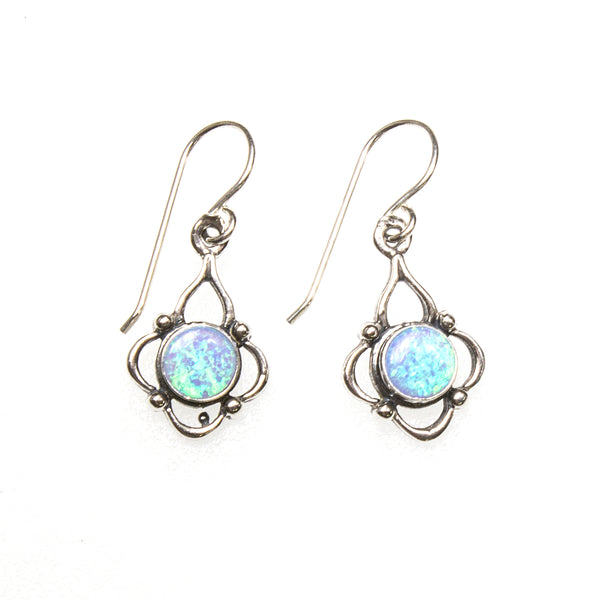 SS Lab Opal Quatrefoil Earrings