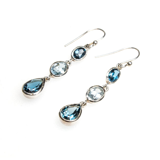 SS London Blue Topaz Earrings