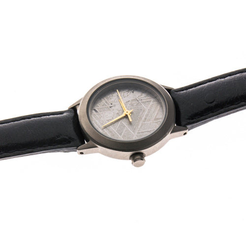 Meteorite Black Leather Women's Watch