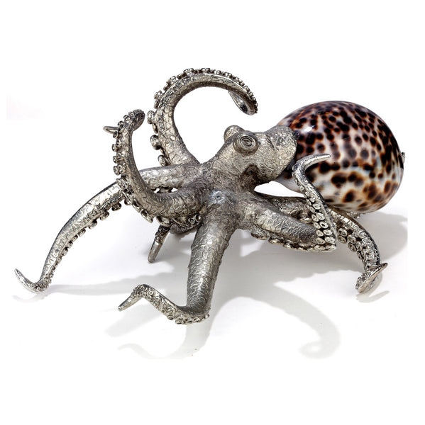 Pewter and Shell Octopus Scultpure