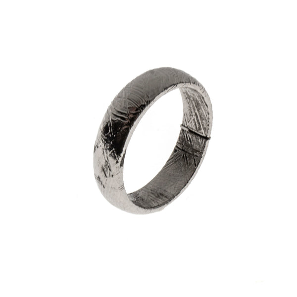 Meteorite Rounded Band Ring Size 6