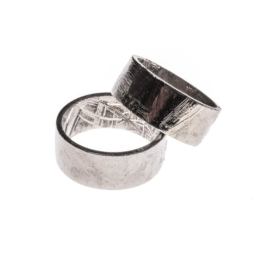 Meteorite Flat Wide Band Ring Size 12 & 13