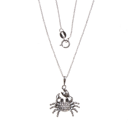 14K Diamond Crab Pendant