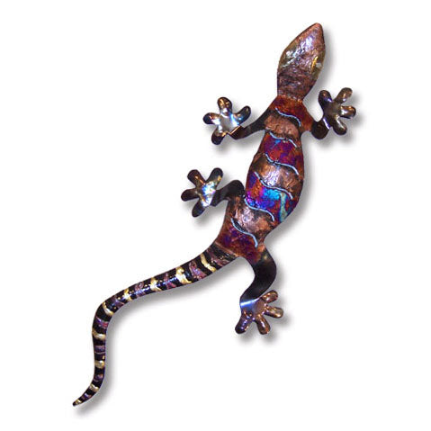 Copper Dripped Gecko Wall Art