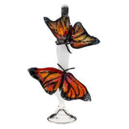 Art Glass Perfume Bottle Monarchs by Loy Allen