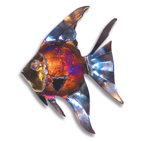 Copper Dripped Angelfish Wall Art