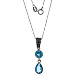 Sterling Silver Blue Topaz Necklace