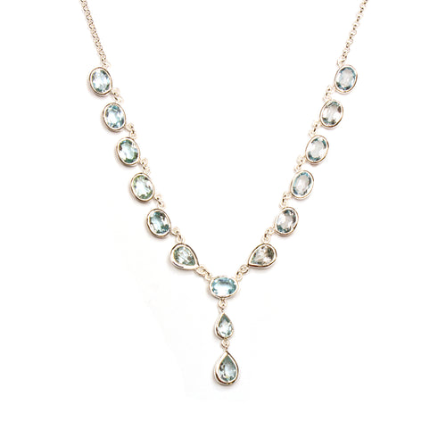 SS Blue Topaz Y-Necklace