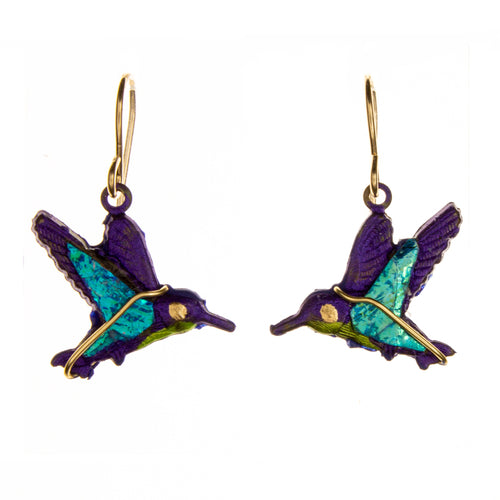 Vermeil Hummingbird Earrings