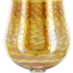 Art Glass Honeycomb Wine Glass by Romeo Glass