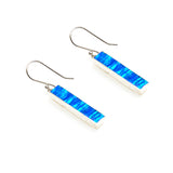 SS Created Opal Bar Earrings